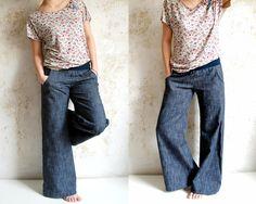 Jeans - °Jeans-Hose° mit Kontrastnähten - ein Designerstück von Knopfkino bei DaWanda