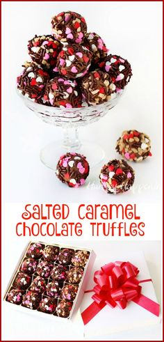 Combine salted caramel ice cream with milk chocolate to make the most amazing Salted Caramel Chocolate Truffles. They make great Valentine's Day gifts and are so quick and easy to create. See the recipe at HungryHappenings.com.