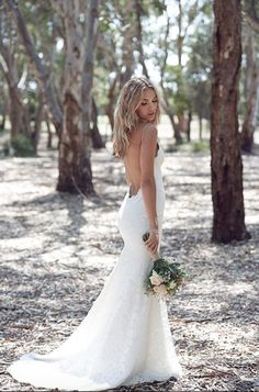 """Our Poipu gown was featured in Bridal Instaglam's story """"Must-Have Bridal Looks for Your Bohemian Wedding."""" These pics from 35mm Wedding Photography capture the boho vibe of our Poipu gown perfectly. Other credits go to: Sugarbee Flowers, Janice Wu, Nathalie Darcas. XO"""