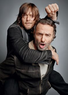 Andrew Lincoln & Norman Reedus photographed by Jeff Lipsky for TV Guide Magazine