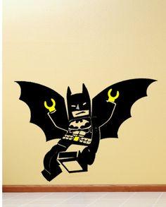 32 inches Wide Batman Lego Minifigure Vinyl Wall Decal Sticker. $24.99, via Etsy.