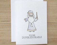 Dobby Greeting Card // harry potter greeting card, harry potter pun, watercolor…