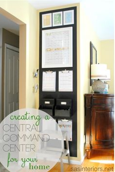 Kitchen Command Center - others are featured as well at http://www.decorchick.com/kitchen-command-centers/