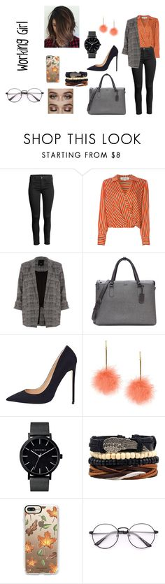 """""""Look like a Working Girl"""" by mathildepl07 on Polyvore featuring mode, Diane Von Furstenberg, River Island, Tumi et Casetify"""
