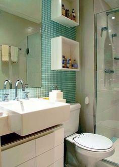 Banheiros decorados com pastilhas - 35 lindas ideias