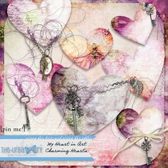 MHiA - Charming Hearts - New Collection by The Urban Fairy:  My Heart in Art available at www.digitalscrapbookingstudio.com #theurbanfairy #theStudio