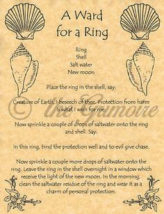 A Ward for a Ring, Book of Shadows Pages, BOS Pages, Real Wicca Witchcraft Spell