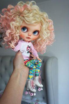 OOAK Custom Blythe Doll ALEITHIA by Cihui Pretty Dolls, Cute Dolls, Beautiful Dolls, Ooak Dolls, Blythe Dolls, Reborn Dolls, Doll Repaint, Doll Clothes, Miniatures