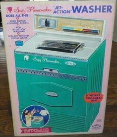 – Comparison of Washer Vintage Toys 1960s, 60s Toys, Retro Toys, Childhood Games, Childhood Memories, Toy Kitchen, Kitchen Appliances, Great Memories, Classic Toys