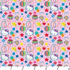 Hello Kitty Big Top Confetti Pink Cotton HK-30 - Sy Fabrics