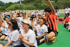[Together with High1 Resort Gangwon FC Soccer School] ; Photo sketch in the High 1 Ski Resort in Jungsun, South Korea on June 10th, 2013.