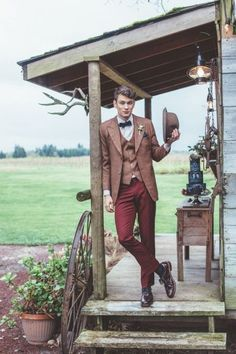 42 Vintage Wedding Groom Looks That Inspire   HappyWedd.com
