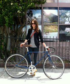 crushing on this girl/bike