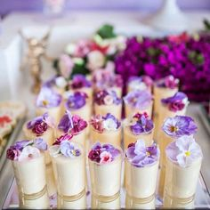 How scrumptious do these desserts look?! See the prettiest enchanted #garden themed #birthday #party on #KarasPartyIdeas.com today (click link in profile for more photos  details)! Styled by @ohferi_eventstyling! by karaspartyideas