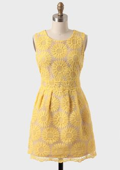 St. Claire Embroidered Floral Dress from Ruche. #yellowbridesmaid #weddingstyle