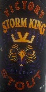 Storm King Stout - Victory Brewing Company - Downingtown, PA - BeerAdvocate
