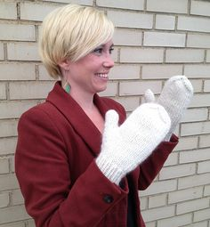 Ravelry: Full Mittens - Chunky/Doubled Worsted Version pattern by Kate Atherley