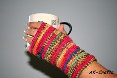 norwegian wrist warmer pattern free | ... crochet simple fingerless mittens or wrist warmers | The Art of Craft