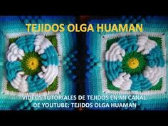 flor de dos colores tejido a crochet para colcha paso a paso video 1 - YouTube
