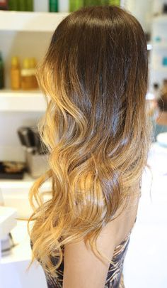 Natural ombre hair. Pin for my friend Karely that just ddoesn't seem to decide if doing it or not;)