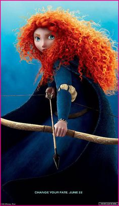 "The movie isn't even released yet and she's already one of my favorite characters :) Merida from Disney's ""Brave"""