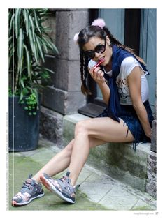 no. 001 photo: Nanni Gabrielle. stylist: Ximena Mandujano. model: Ana Arenas. makeup & hair: Luisiana López. kicks: Reebok. falda: Zara, sweater: Forever21, lentes: Vintage, lipstick: Benefit, tee & kicks: Reebok. http://maplemag.com/ #maplemag #InherentNature #ForYoungHearts
