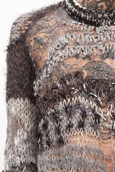 lace under knit scraps