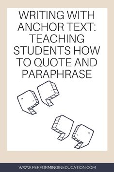 Quotations and Paraphrasing are hard for students to understand. Let April Smith, creator of simplify writing, show you some techniques to help streamline the learning processes. 5th Grade Writing, Research Writing, Writing Classes, Writing Lessons, Writing Workshop, Teaching Writing, Teaching Strategies, Student Teaching, Writing Activities