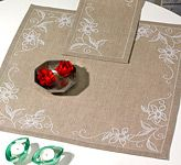 Orchid Tablecloth Cross Stitch Kit