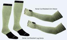 Kevlar Cut-Resistant Arm Sleeve & Swiftwick Cut Resistance Socks- SR