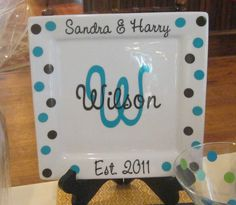 Personalized Porcelain Wedding or by SweetSouthernCompany on Etsy