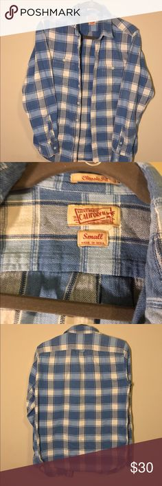 🍀Lucky brand flannel🍀 🍀Lucky brand flannel🍀 Blue plaid flannel Classic fit style  Very comfy shirt Great for layering Lucky Brand Tops Button Down Shirts