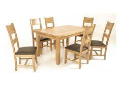 Rustic Oak Dining Set