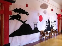 Eva: tacones y corcheas!: PROYECTO JAPÓN C.P. CASTILLA 2014 Chinese Party, Japanese Party, Chinese Theme, Asian Party, Japanese Birthday, Chinese New Year Decorations, New Years Decorations, Nouvel An Chinois Diy, Homecoming Themes