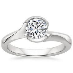 Platinum Cascade Ring, top view