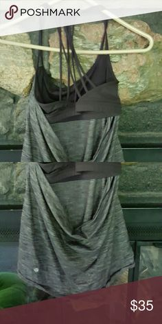 Lululemon strappy tank top This lululemon is in great condition and has a super cute strappy built in bra. lululemon athletica Tops Tank Tops