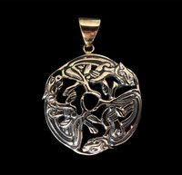 New Listing Started Bronze Viking Art 3 Hounds Dogs Medallion Pendant NZ$24.00