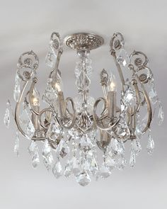 - Mini Chandelier Flushmount Light Fixture this would look fabulous for every celing fixture throughout the house