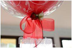 wedding ballon, centerpieces with balloons