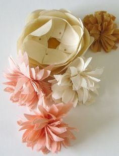 More fabric flowers...