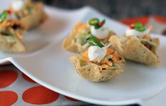 """Love these for another """"finger food"""" party.  Just your regular taco recipe and then add the fun stuff."""