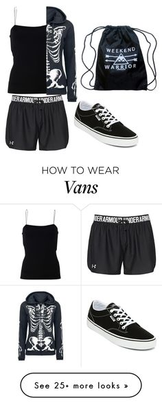 """Untitled #814"" by xxghostlygracexx on Polyvore featuring T By Alexander Wang, Under Armour and Vans"