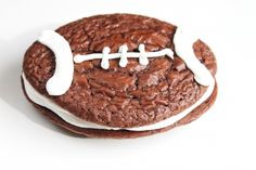 Football-shaped Whoopie Pies from @createdbydiane