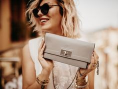 fashion outfit style: grey & white, chic, elegant, playful, edgy   givenchy…
