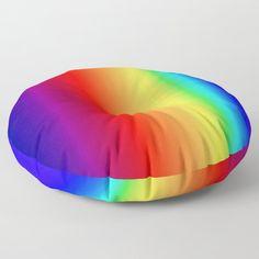 Bright vertical rainbow gradient Floor Pillow by uteb Designer Pillow, Pillow Design, Floor Pillows, Throw Pillows, Pillow Shams, Decoration, Bean Bag Chair, Cushions, Rainbow