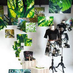 "COHIM, (Visual Merchandising), Beijing, China, student project: ""Through the trees, I will find you"", pinned by Ton van der Veer"