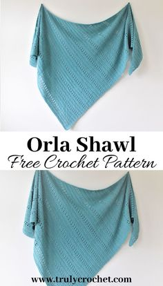 Beginner friendly crochet shawl this is a crochet shawl free pattern. Beginner friendly crochet shawl this is a crochet shawl free pattern. One Skein Crochet, Crochet Shawl Free, Crochet Shawls And Wraps, Crochet Scarves, Crochet Clothes, Diy Crochet, Doilies Crochet, Crochet Triangle, Wrap Pattern