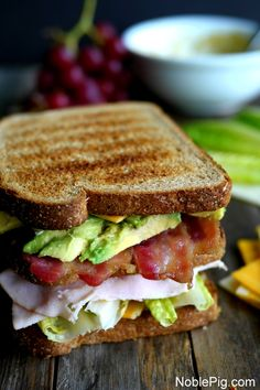 Ultimate Manly Picnic Sandwich from Noble Pig Croissant Sandwich, Sandwich Bar, Best Sandwich, Soup And Sandwich, Sandwich Recipes, Sandwich Ideas, Picnic Recipes, Chicken Sandwich, Delicious Sandwiches