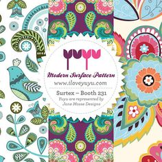 Surtex Flyer on the Print and Pattern blog for Yuyu by Jane Mosse Designs