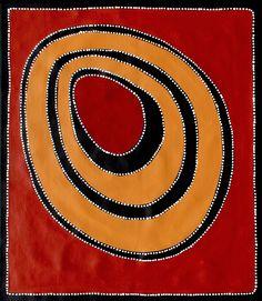 Aboriginal Artwork by Sally Clark. Sold through Coolabah Art on eBay. Cataogue ID 16094